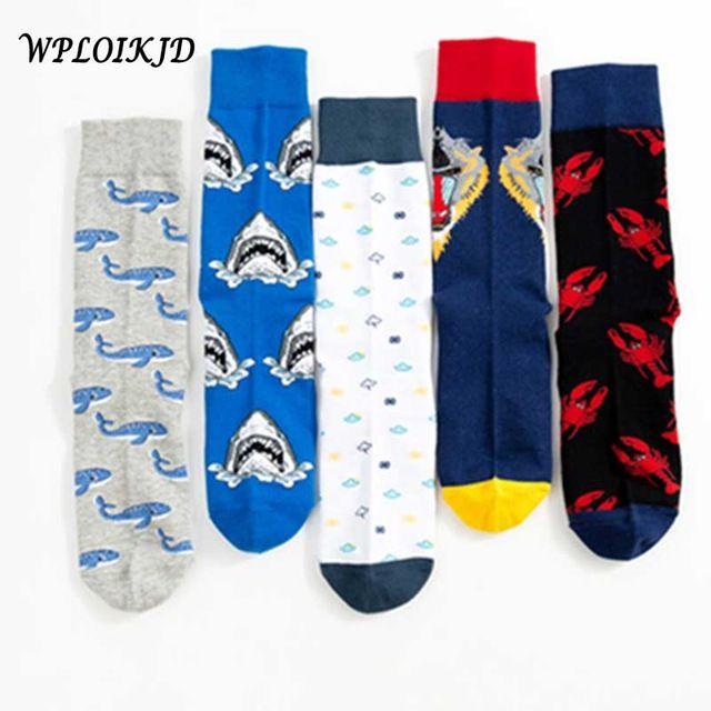 wploikjd creative Food Happy Socks Harajuku Egg Beer Hip Hop Socks Men Unisex Skarpetki Calcetines Hombre Divertidos Skateboard Underwear & Sleepwears