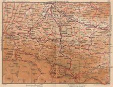 Pyrénées centre. ariège carcassonne toulouse andorre haute-garonne 1954 carte