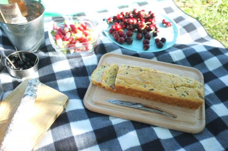 recette sans gluten de cake au jambon et aux olives - gluten free bacon and olive cake