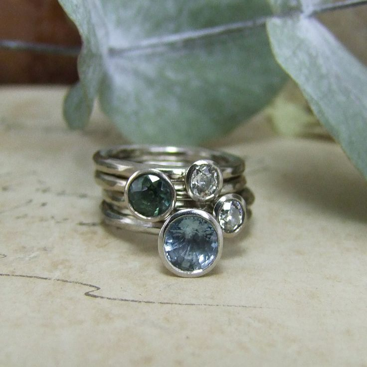 Sapphire Stacking Rings Vintage Engagement Rings Rose