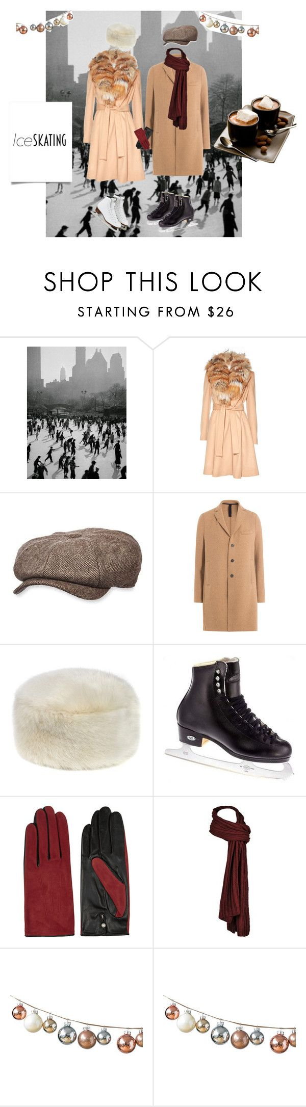 """""""Ice skating with the one."""" by martine-a-nolan ❤ liked on Polyvore featuring Alice + Olivia, Stetson, Harris Wharf London, Riedell and AGNELLE"""