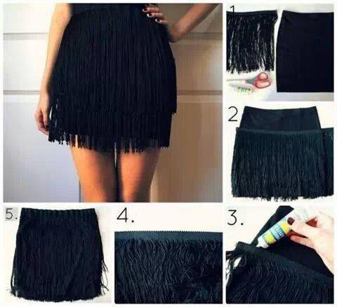 Falda con flecos para fiesta | costura | Pinterest | Fiestas
