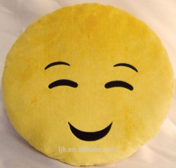 Happy face emoji pillow