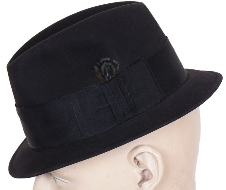 "This is a very nice quality 1960s narrow brim ""Mad Men"" style fedora hat. This hat is the type of fashion style popular with ska musicians during the early to mid 60s. The leather sweatband is gold st"