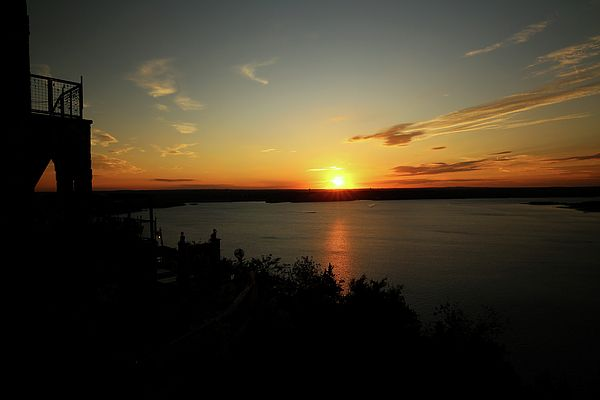 Photo taken in Austin, Texas. This view of Lake Travis in Austin was taken from the overlook at The Oasis Restaurant.