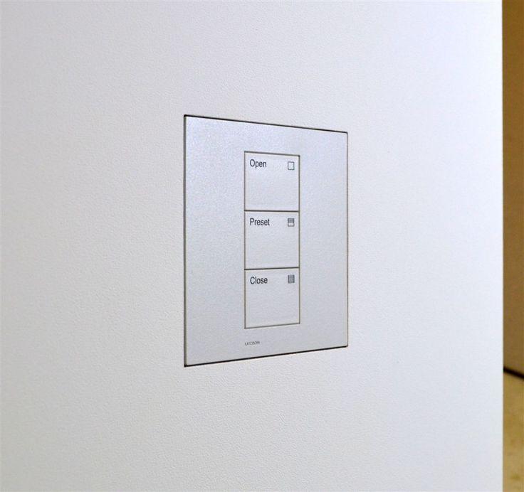 Wall-Smart for Lutron Palladiom Square 1 Column Matt