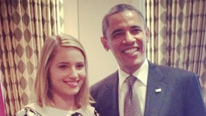 Young Americans for Obama campaign with Dianna Agron/Glee