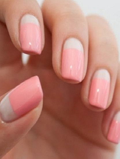 "Color Block Nails -€"" Classic and Simple"