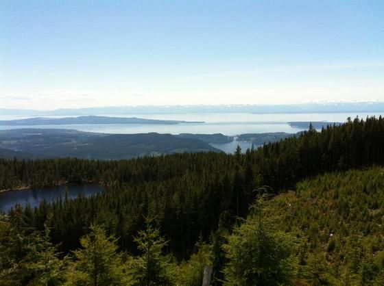 Top of Mount Mahoney, Powell River, BC