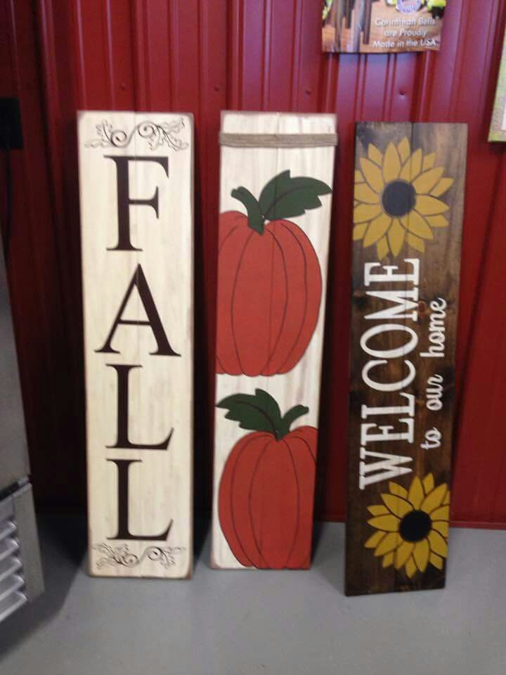 Fall wood signs