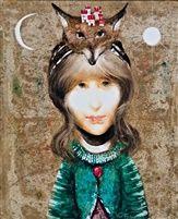 Lány rókafejes fejdísszel by Endre Szasz