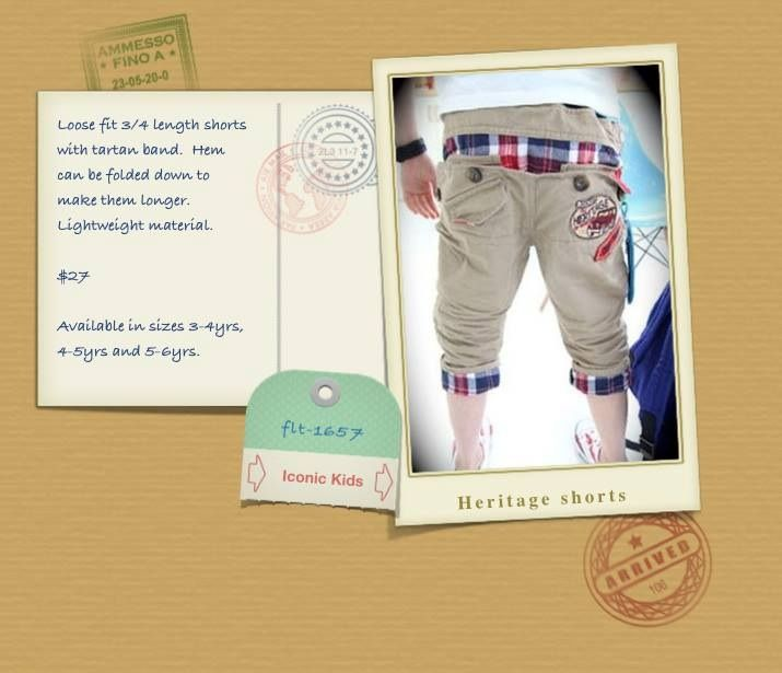 3/4 length shorts, great for the spring season