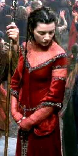 Morgaine Le Fay from the The Mists Of Avalon (2001) by Uli Edel and Costume design: James Acheson and Carlo Poggioli