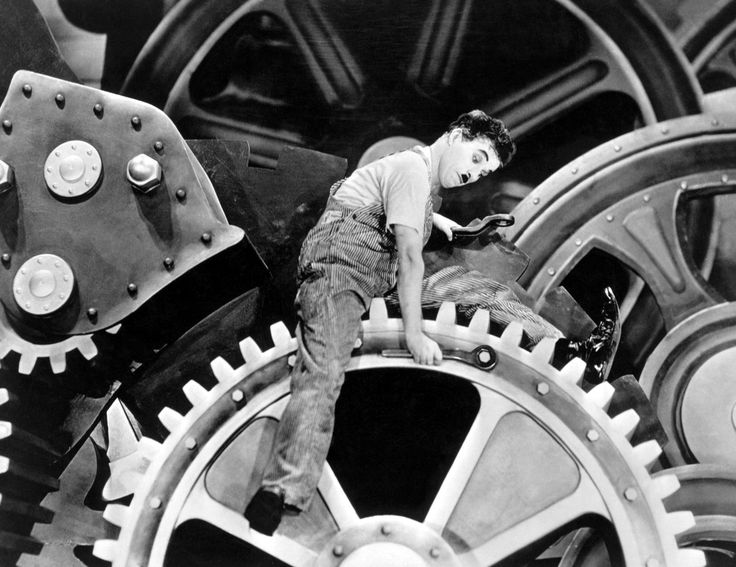 Charles Chaplin - Tiempos Modernos ( 1.936 )