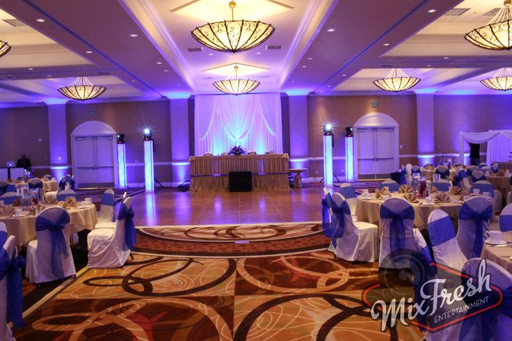 Lighting design by Mixfresh Entertainment for  a wedding at the double tree hotel in anahiem