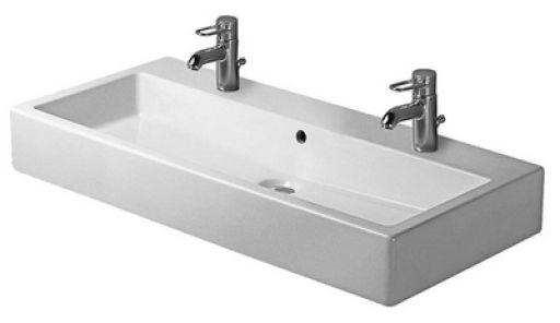 Køb Duravit Vero Håndvask 70x47 cm Hvid porcelæn m/2 Hanehuller og Overløb 635464400