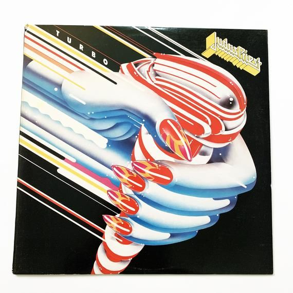 Vintage Judas Priest Turbo Album Vinyl Lp Record Original