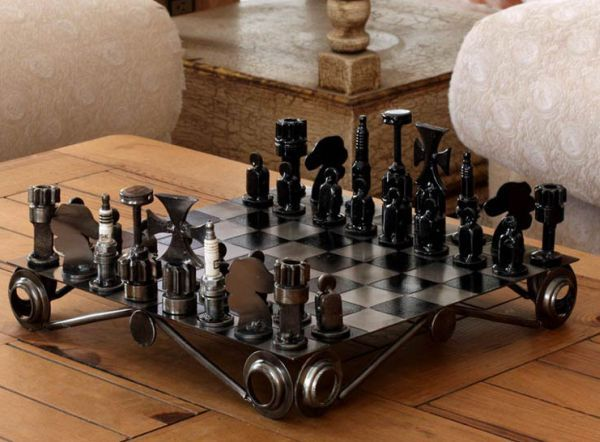 projects ideas metal chess pieces. 7 Unique nut and bolt chess sets recycling hardware waste 832 best Chess my pasion images on Pinterest  games