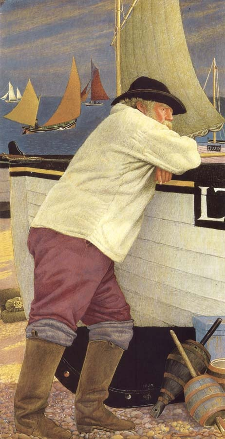 The Old Fisherman (1903) by Joseph Edward Southall.~