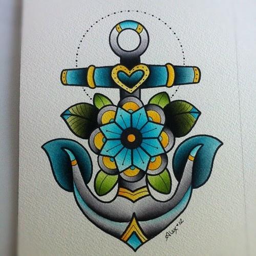 alex strangler,nautical,anchor,tattoo