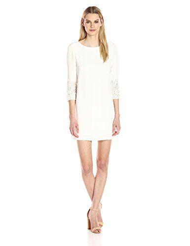 French Connection Women's Ensor Crepe Dress, Summer White, 8