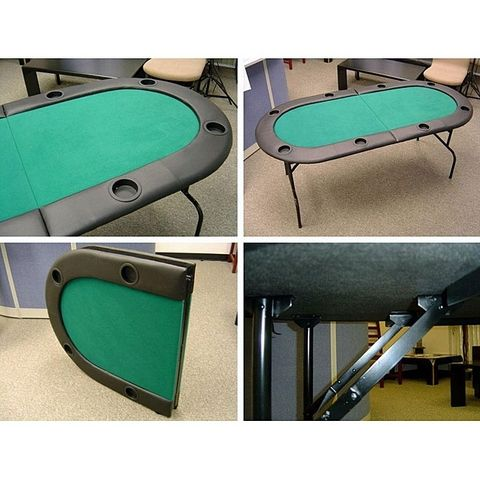 TEXAS HOLD EM 73 INCH 8 PERSON FOLDING POKER TABLE WITH LEGS