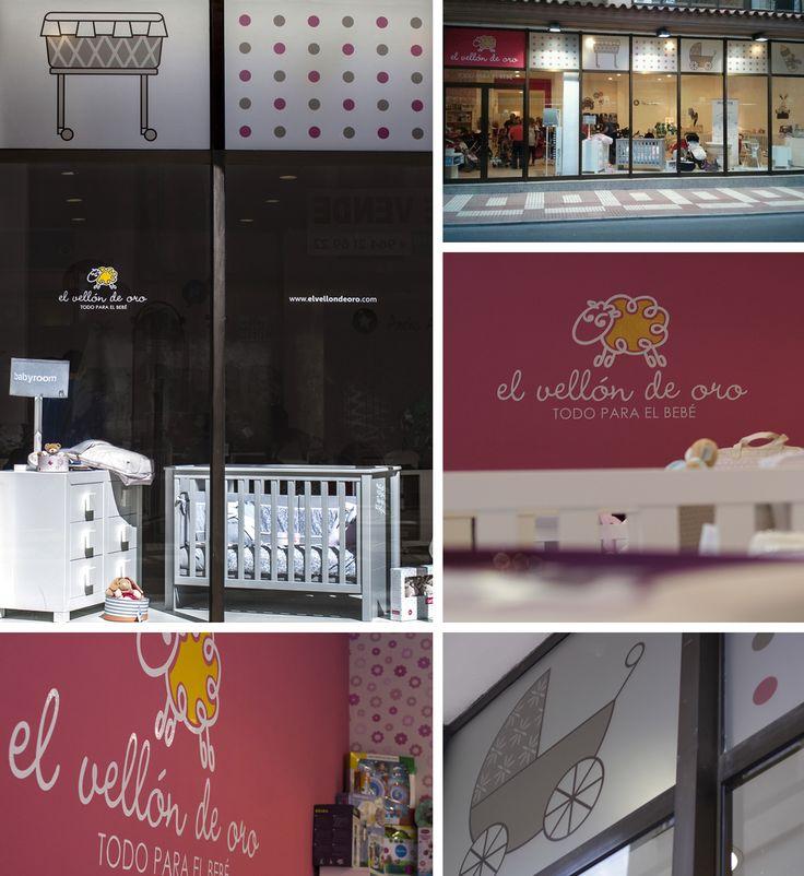 Rotulación tienda EL VELLÓN DE ORO. Tienda de puericultura de Castellón.