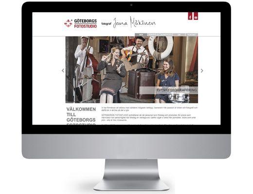 Art direction/webbdesign - Göteborgs fotostudio
