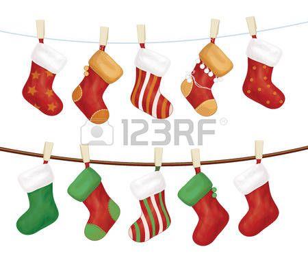 Картинки по запросу новогодние носки на веревочке