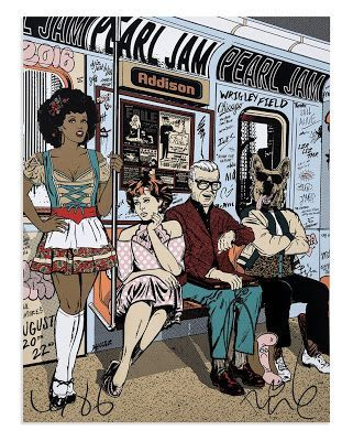Pearl Jam Faile Chicago Poster Artist Edition Release... #Arsetculture #Inside_the_Rock_Poster_Frame #Gig_Posters