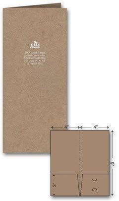 Foil Imprint Mini Presentation Folder.   • Size: 4 x 9 • Each folder features handy business card slits • Business Card die cut on right pocket • Two 3 inch deep pockets for documents • Free Setup • Fits inside a number 10 envelope.