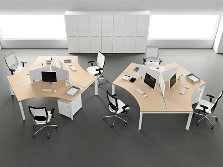 Desk Office Design with attractive modern office