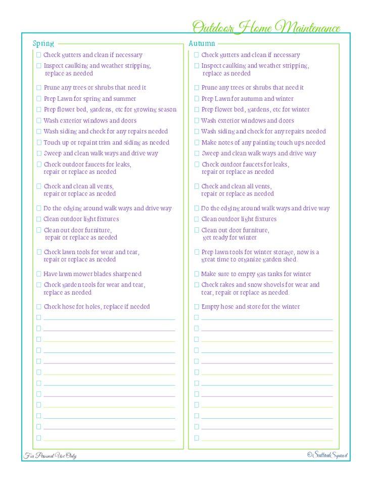 397 best Printables  Fonts images on Pinterest Organizers, Binder - home maintenance spreadsheet