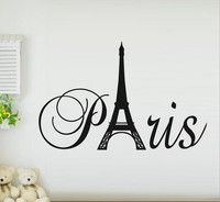 Wish | wall sticker Paris tower 1074 English stickers manufacturers  export generation carving explosion wall stickers for home deco vinyl