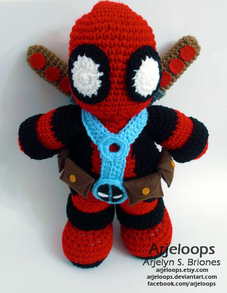 Crochet Wedding Dress Pattern Doll : Deadpool Crochet Plushie Crochet Amigurumi Pinterest