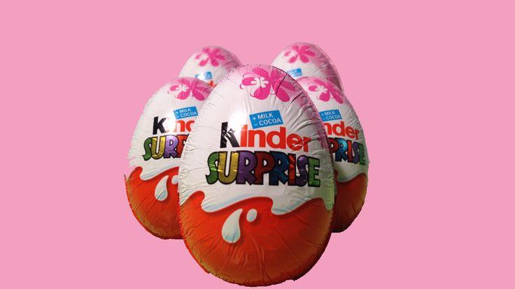 ✡ 5 Kinder Surprise Eggs Unboxing ✡