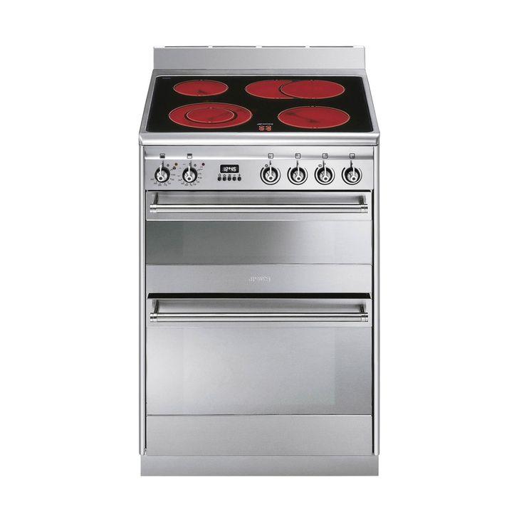 Freestanding Range Cookers Uk Part - 43: Smeg Concert 60 Ceramic Stainless Steel Range Cooker