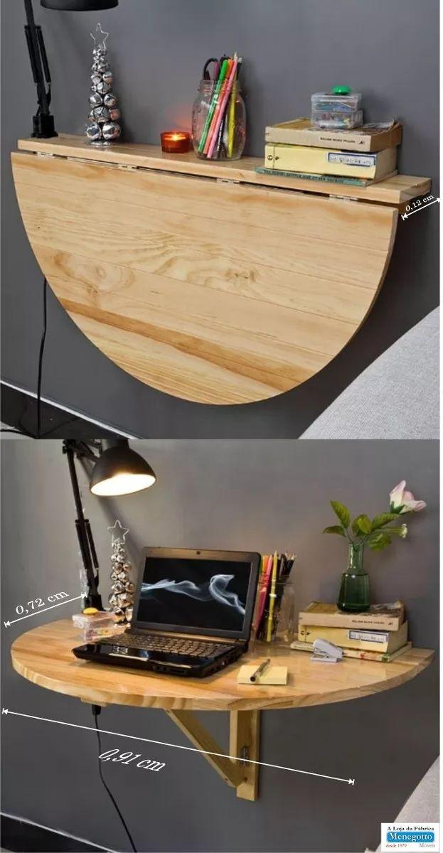 Mesa Dobrável;mesa De Parede;madeira Maciça,rustica - R$ 357,00 em Mercado Livre