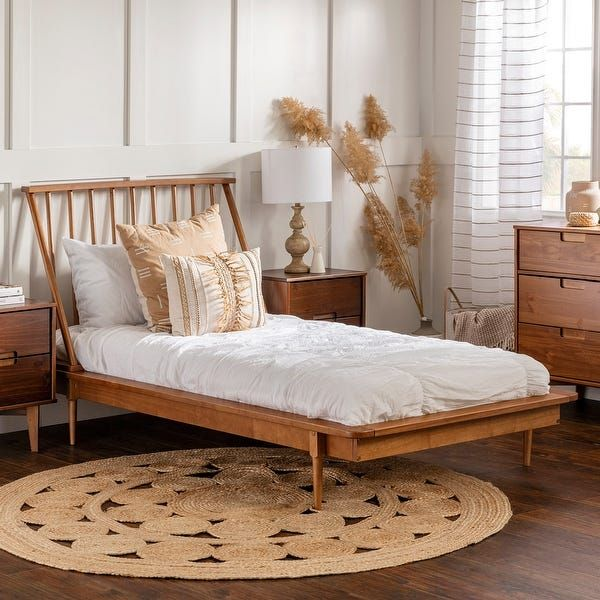 Carson Carrington Blaney Solid Pine Wood Spindle Bed White