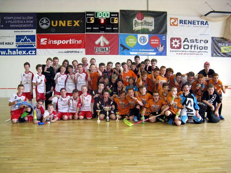 3.místo setkání mladšíh žáků ve florbale Hranice na Moravě