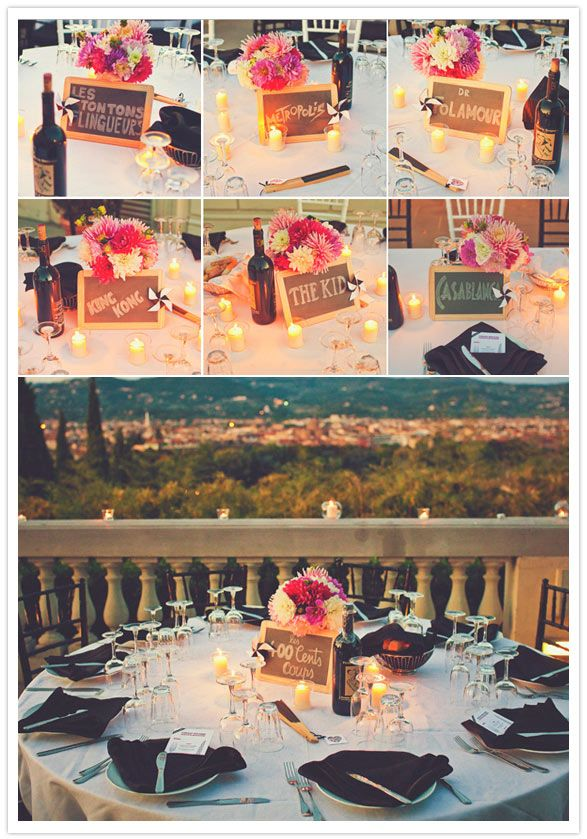 Love these table names! Totally going to do something like this. Great colors, too.