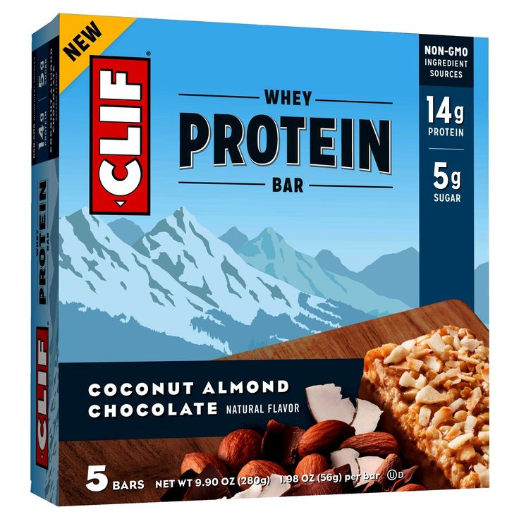 Clif Whey Protein Bar - Coconut Almond Chocolate - 5ct
