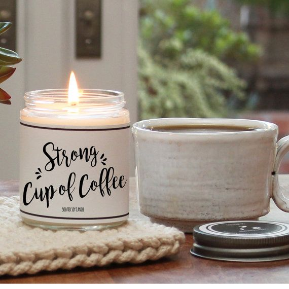 Strong Cup of Coffee Scented Candle  8 oz Candle  Scented