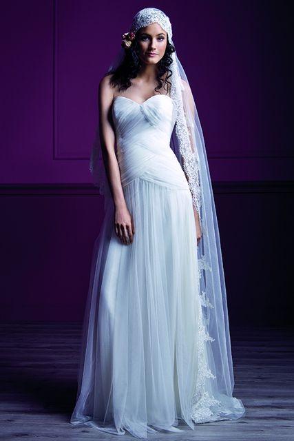 robe de marie en tulle drap ivoire obalpur du 36 au 48 tati mariage - Tati Mariages