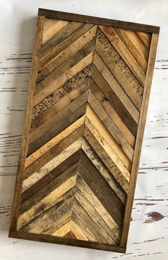 Geometric Chevron Wood Wall Art Decor In 2019 Products Wood Wall