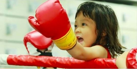 """On the October 11 episode of """"The Return of Superman,"""" Choo Sarangtransforms into an adorable mini boxer! In the episode, Choo Sung Hoon and Sarang hit up a boxing club, where Sarang shows off her overflowing charisma and surprising boxing skills. Sarang shocks everyone with her enthusi..."""