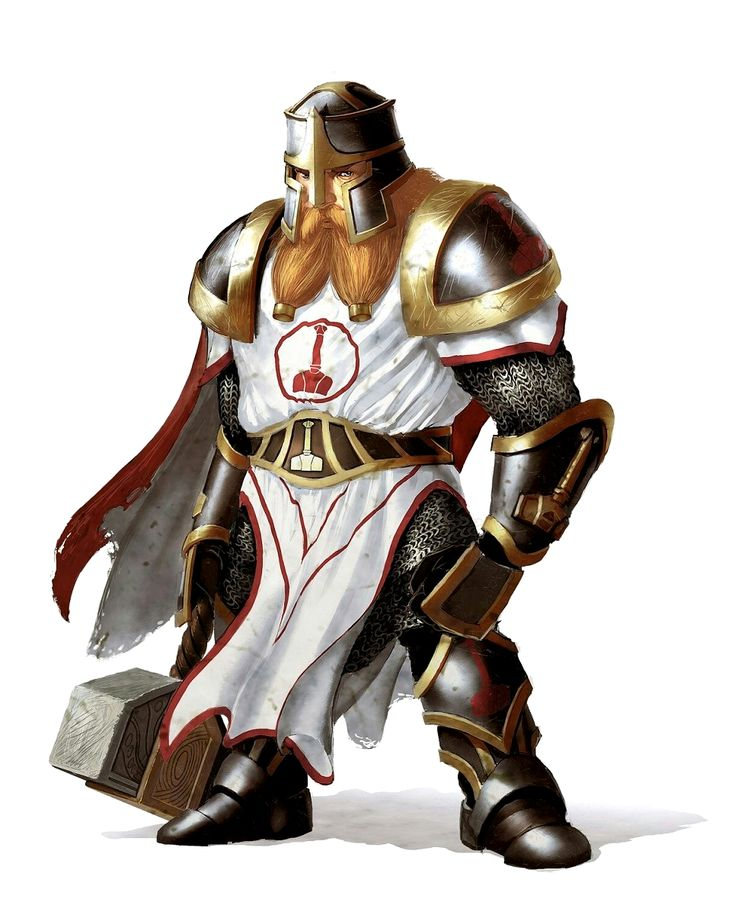 Male Dwarf Paladin of Torag - Pathfinder PFRPG DND D&D d20 fantasy