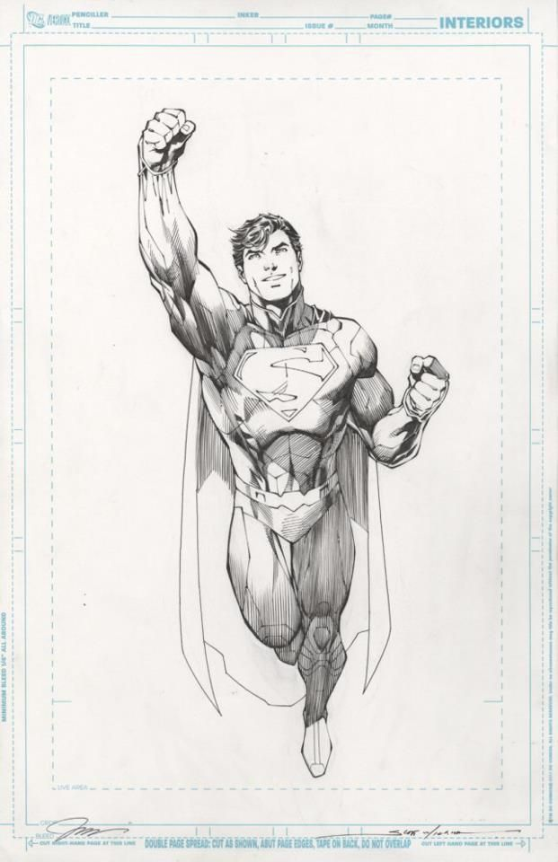 Is This Man of Steel Interior Art From Jim Lee?