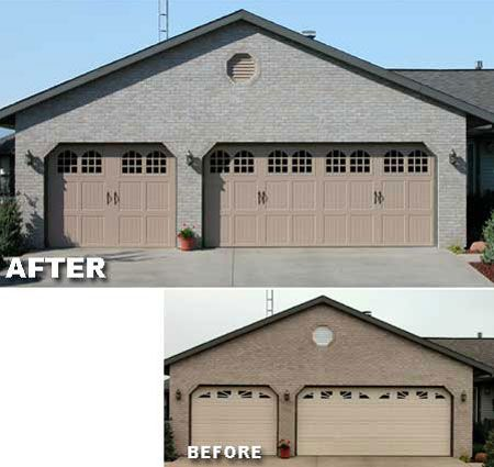 Garage makeovers that will make you want to remodel for Ranch house garage doors