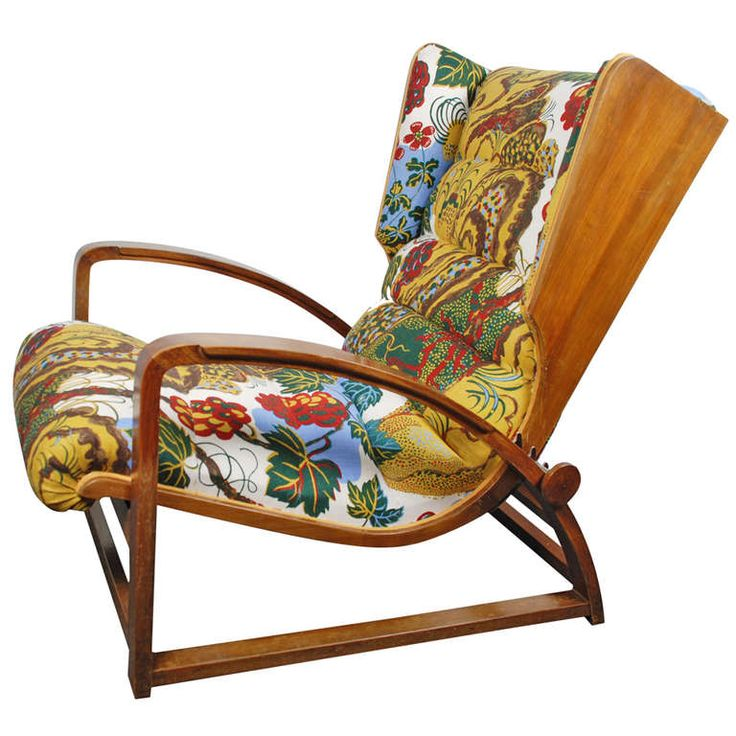 Armchair, Italy 1940's, new Josef Frank fabric | From a unique collection of antique and modern lounge chairs at https://www.1stdibs.com/furniture/seating/lounge-chairs/